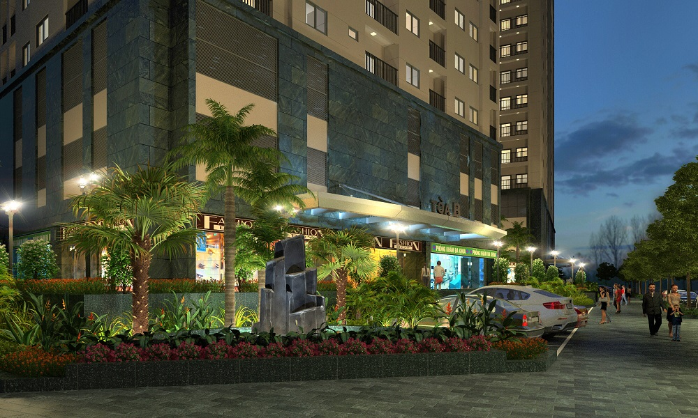 cảnh quan nội khu dự án Hateco Hoàng Mai 2