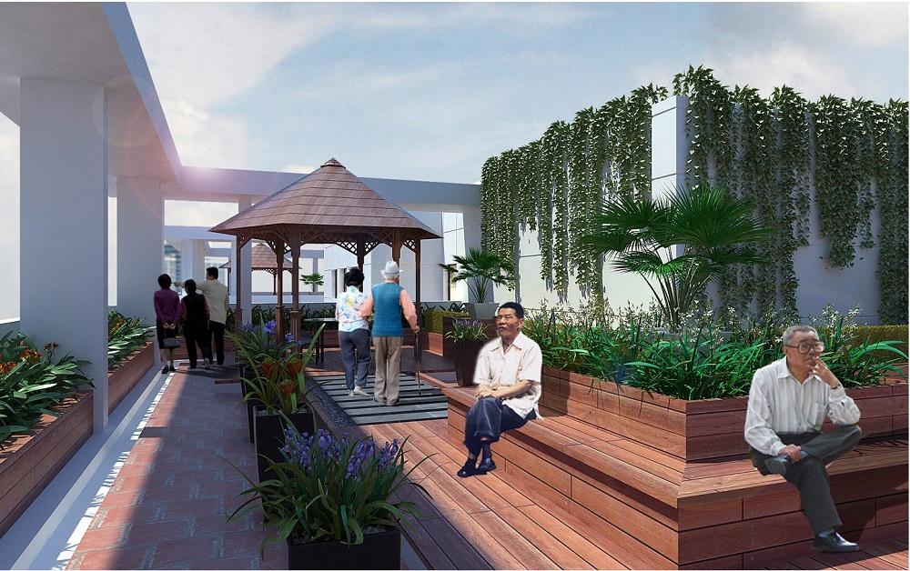 cảnh quan nội khu dự án Hateco Hoàng Mai 3