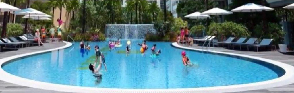 bể bơi ngoài trời eco city long biên