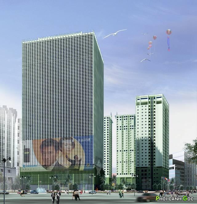 Phối cảnh tổng thể dự án chung cư City Plaza 201 Minh Khai