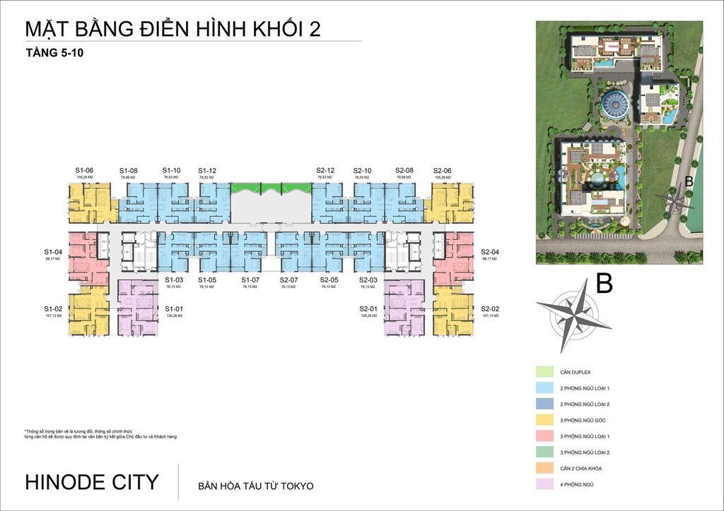Chung cư Hinode City 201 Minh Khai - mặt bằng Sachi