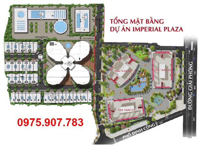 Imperial Plaza 360 Giải Phóng - Mặt bằng tổng thể