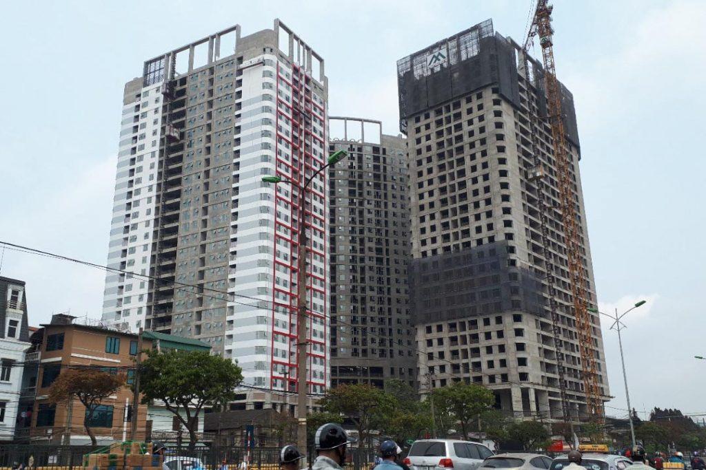 Tiến độ mới nhất chung cư Imperial Plaza 360 Giải Phóng