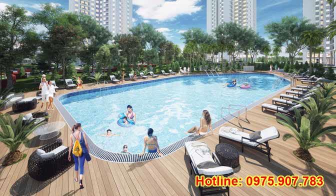 Hong Ha Eco City - bể bơi ngoài trời