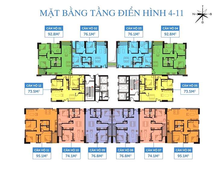 Chung cư Smile Building - mat bang