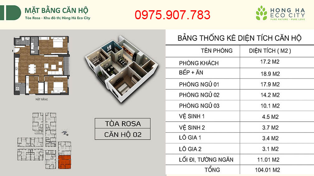 Hồng Hà Eco City - CT12 căn 02