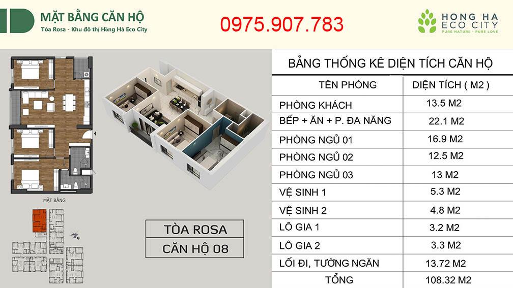 Hồng Hà Eco City - CT12 căn 08