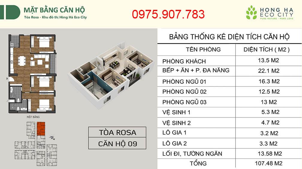 Hồng Hà Eco City - CT12 căn 09