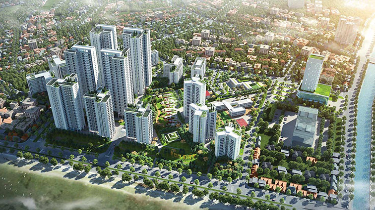 Hồng Hà Eco City phối cảnh