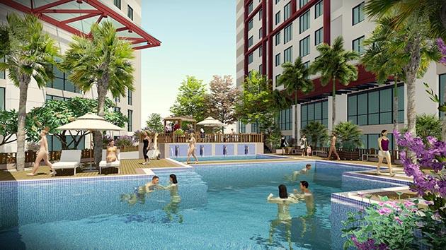 Imperial Plaza 360 Giải Phóng - Bể bơi ngoài trời