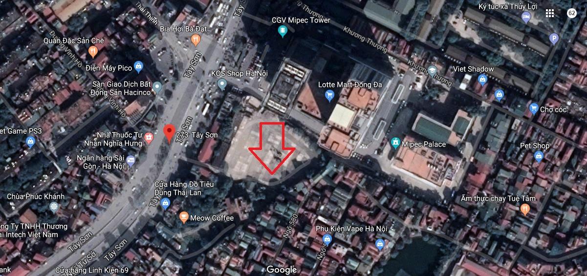 vị trí dự án 273 Tây Sơn