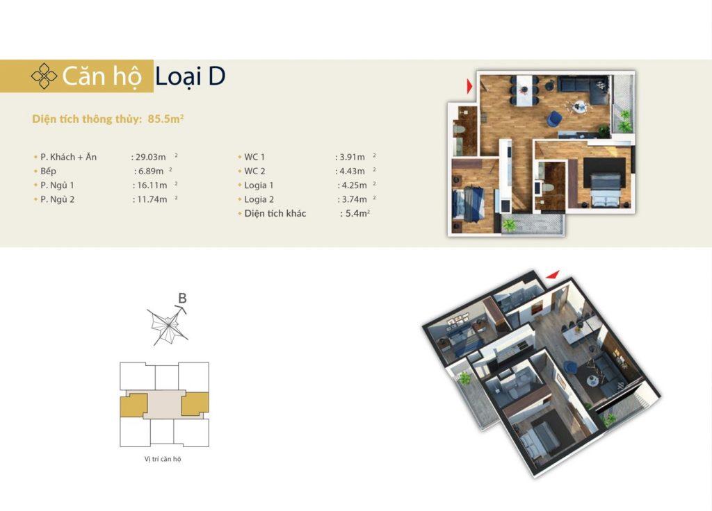 Bohemia Residence - căn hộ loại D