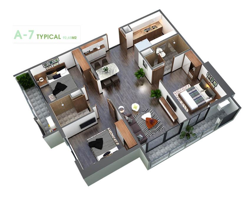 An Binh Plaza - căn 3pn góc