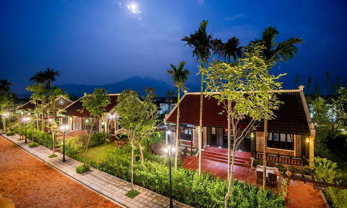 vườn vua resort - biệt thự hồng liên 1 tầng