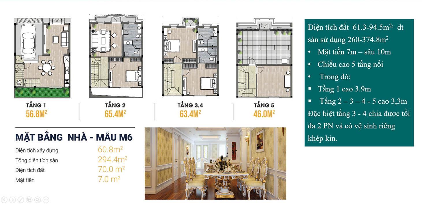 Kiến Hưng Luxury mặt bằng lk lớp 2 điển hình