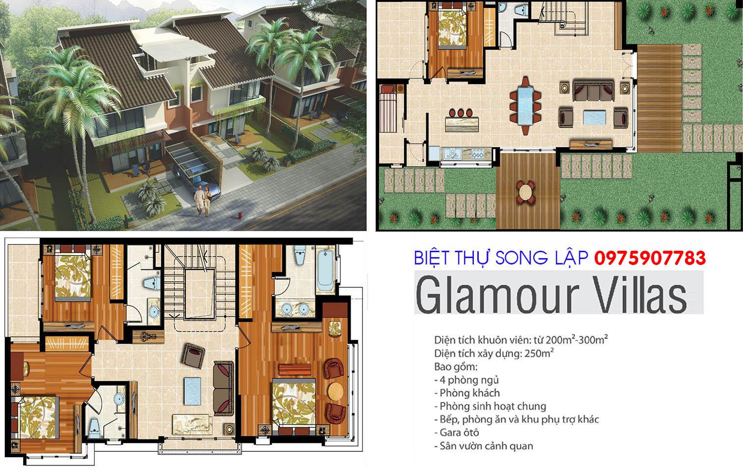 Xanh Villas - biệt thự song lập Glamour