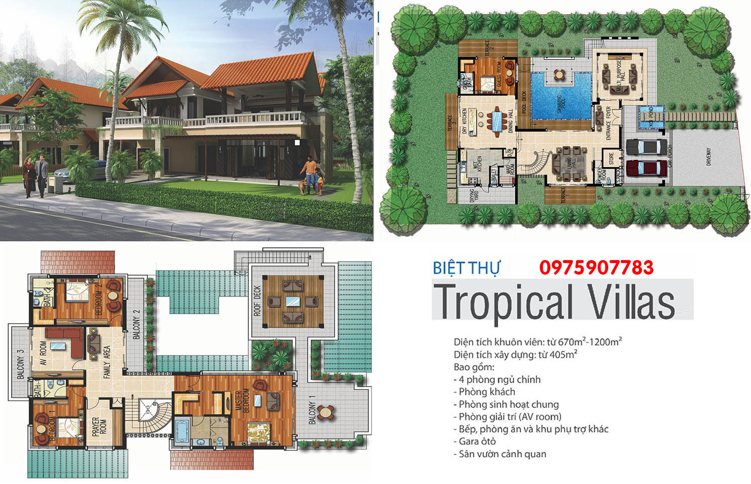 Xanh Villas - biệt thự Tropical